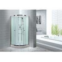 China Spacious Extra White Glass Shower Cabins For Country Clubs / Real Estate Property on sale