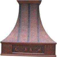 China Hand crafted and hand made pure copper range hood on sale