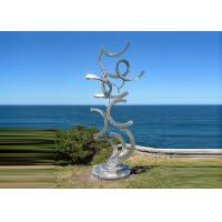 Best Contemporary Art Stainless Steel Sculpture For Outdoor Decoration Anti Corrosion  wholesale