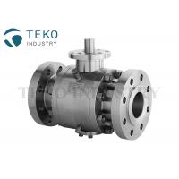 Best API 6D Stainless Steel Trunnion Isolation Ball Valve Flange Type Fire Proof wholesale