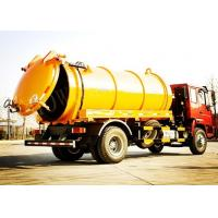 China Tilt Steering Wheel Vacuum Sewage Suction Truck / Sewage Cleaning Truck on sale