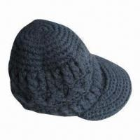 China Hand-crocheted Hat, Comes in Various Colors on sale