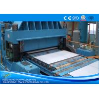China Color Steel Cut To Length Line Machine Blue Colour Full Automatic PLC Control on sale