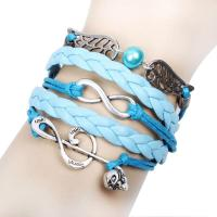China Europe and America Style Chain Angel Wings Bracelet For Woman Devil Skull Hook Bracelets on sale
