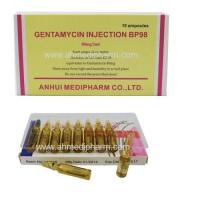 China Gentamycin Sulphate Injection 80mg/2ml 10's/box GMP medicine injection BP/CP/USP Standrad on sale