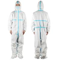 China Anti Virus Chemical Protective Clothing Disposable Medical Isolation Suit For Hospital Use on sale
