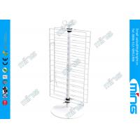 China Double Sides Metal Retail Wire Display Stands , Counter Rotating Display Fixture on sale
