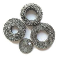 Stainless Steel Wire Mesh Filter Disc , Compressed Knitted Mesh Filter