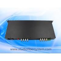 5mp 16 port CVI to fiber converter with rs485/422/232 ptz data in 1U rack mount chassis for CCTV surveillance system