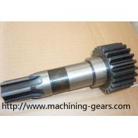 China Motor Parts Industrial Spur Gear Shaft  / Helical Metal Shaft Head Gear on sale