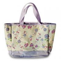 China Polyester Printed Beach Bag with Cooler-bag Function, Measuring 50 x 33 x 18cm on sale