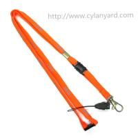 China Custom wholesale tubular polyester lanyard with ABS detachable buckle, RoHS CE compliant, on sale