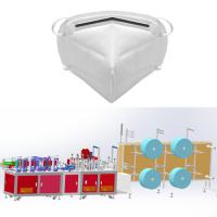 Best FFP2 FFP3 N95 KN95 Fold Non Woven Mask Making Machine Semi-auto System with CE wholesale