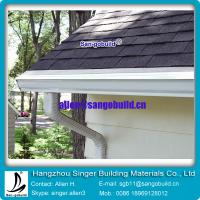 Best Gary asphalt roofing tile with seamless rain gutter for roof decoration wholesale