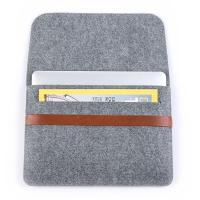 Best Factory price mac book pro felt laptop briefcase bag. size is a4. 3mm microfiber material wholesale