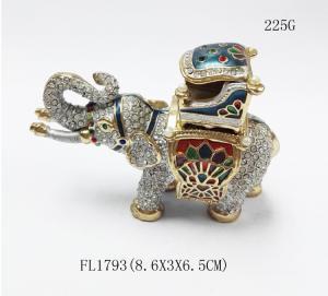Best Elephant jewelry boxes rhinestone animal gift box for jewelry wedding gift wholesale