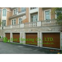 Best Remote-controlled Galvanized steel Sectional  Garage door For Apartment /Villas,Wood color wholesale