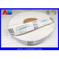 China High Quality Steroids 5 ml Vial Label Sticker  Customized Printing Strong Adhesive Labels In Rolls on sale