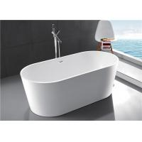 Compact Acrylic Free Standing Bathtub 1 Person Capacity 2 Years Warranty