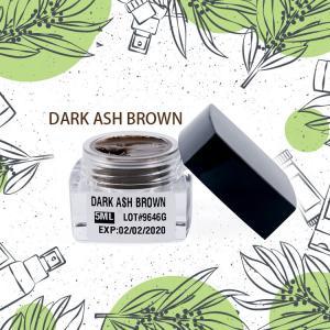 Best Semi Permanent Makeup Pigment Dark Ash Brown For Darker / Yellow Skinned People wholesale