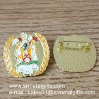 Best Metal enamel colour filled lapel pin with safety pin wholesale