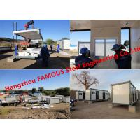 China Modern Steel Frame Modular Prefab Container House For Site Office And Temporary Accommodation on sale