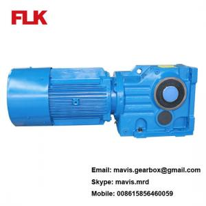 China China manufacturer of K series helical bevel geared motor speed reducer gear box on sale