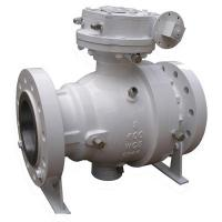 Best Full Port 2PC Trunnion Mounted Ball Valve 10 Inch Flange End With Worm Gear wholesale
