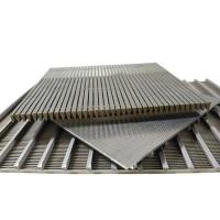 China SS Flat Weld Wedge Wire Screen Johnson Screen Panel on sale