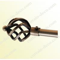 China Decorative Antique Brass Plated Curtain Rod on sale