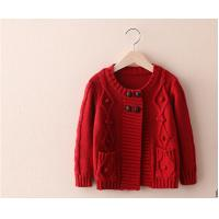 China Sweet  Girl's cardigan sweater long-sleeve knitting sweater handmade sweater on sale