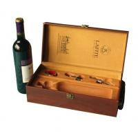 Best Customized Wooden, cardboard Wine Bottle Packaging Gift Boxes with Ribbon for sale wholesale