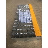 T8 Steel grating stair treads fixed by bolts with anti-slip abrasive nosing
