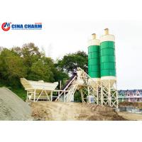 Best Free Foundation Automatic Concrete Batching Plant Ready Mixed Twin Shaft Mixer wholesale