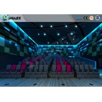 Best Electric Pneumatic System 3D 4D Movie Theater Special Effect Black Motion Chairs wholesale