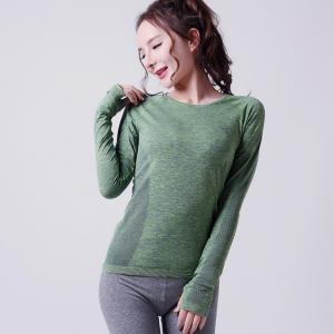 Best OEM women seamless Gym T-Shirt, custom Sports Shirt for lady XLLS006 wholesale