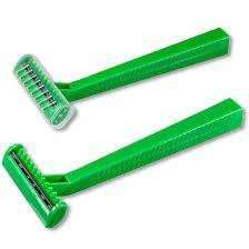 Single blade medical use razor, twin blade medical use razor in 100 pcs per box