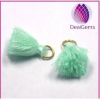 Best Custom design thread tassels with brass ring for jewelry wholesale