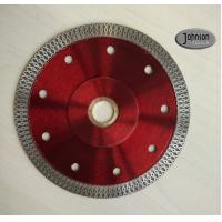 China 125mm Sintered Ceramic Tile Saw Blades , Cyclone Mesh Turbo Diamond Blade on sale
