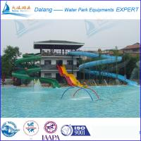 Best Green Swimming pool water slide For Adult wholesale
