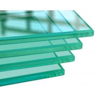 China 4-15mm Clear Toughened Tempered Glass Panel with polished edges for buildings on sale