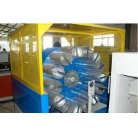 China Double Screw Plastic Extrusion Line , Fiber Reinforced Soft PVC Pipe Extruder Machine on sale