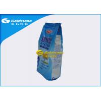 Food Grade Stand Up Powder Packaging Bags For Whey Protein / Milk Powder Quad Seal