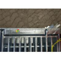 China Hinge / Bolt Steel Grate Drain Cover Simple Lines For Sewage Treatment Plant on sale