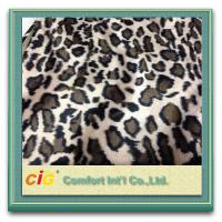 China Animal Printed Realistic Faux fur Fabric For Scarf Garment / Coat , Soft Long Pile Fake Fur Material on sale