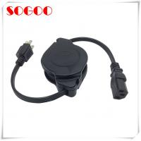 China Custom Length Retractable Power Cord / Power Cable Assembly For Hair Straightener on sale