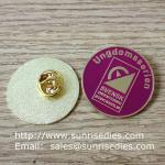 Best Enamel metal emblem pins, color filled emblem pin badges with butterfly clutch wholesale