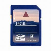 Best SDHC Card with Low Battery Consumption, 16GB Capacity and 2,000G Operating Shock Rate wholesale