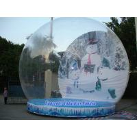 Best Snow Globe Inflatable Christmas Decoration , Blow Up Snow Globe Elegant Design wholesale