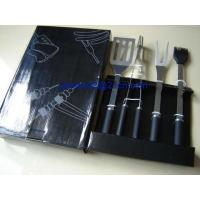 China 4pcs rubble handle BBQ tools in Gift box on sale